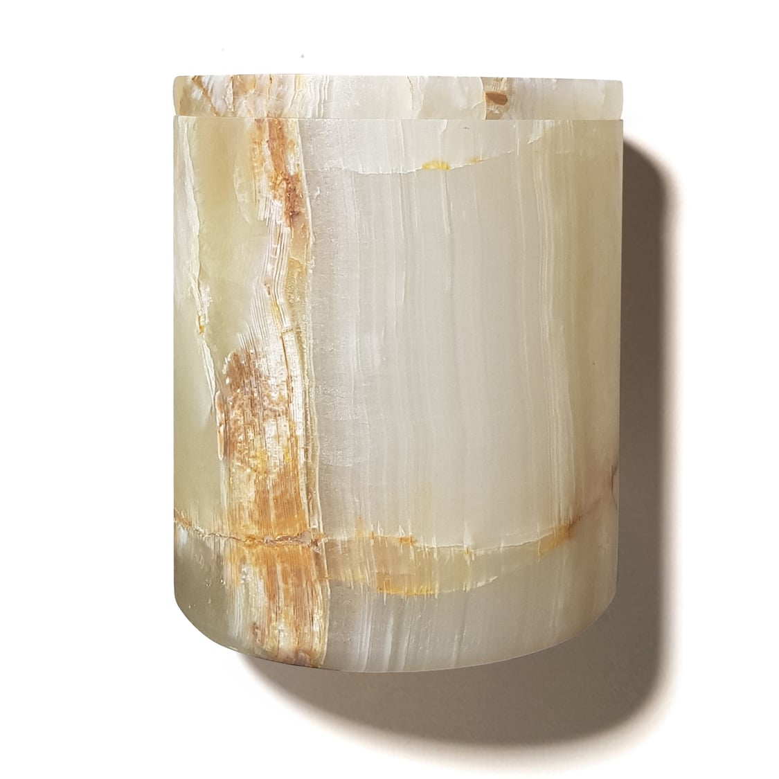 Natural Onyx Refillable Candle