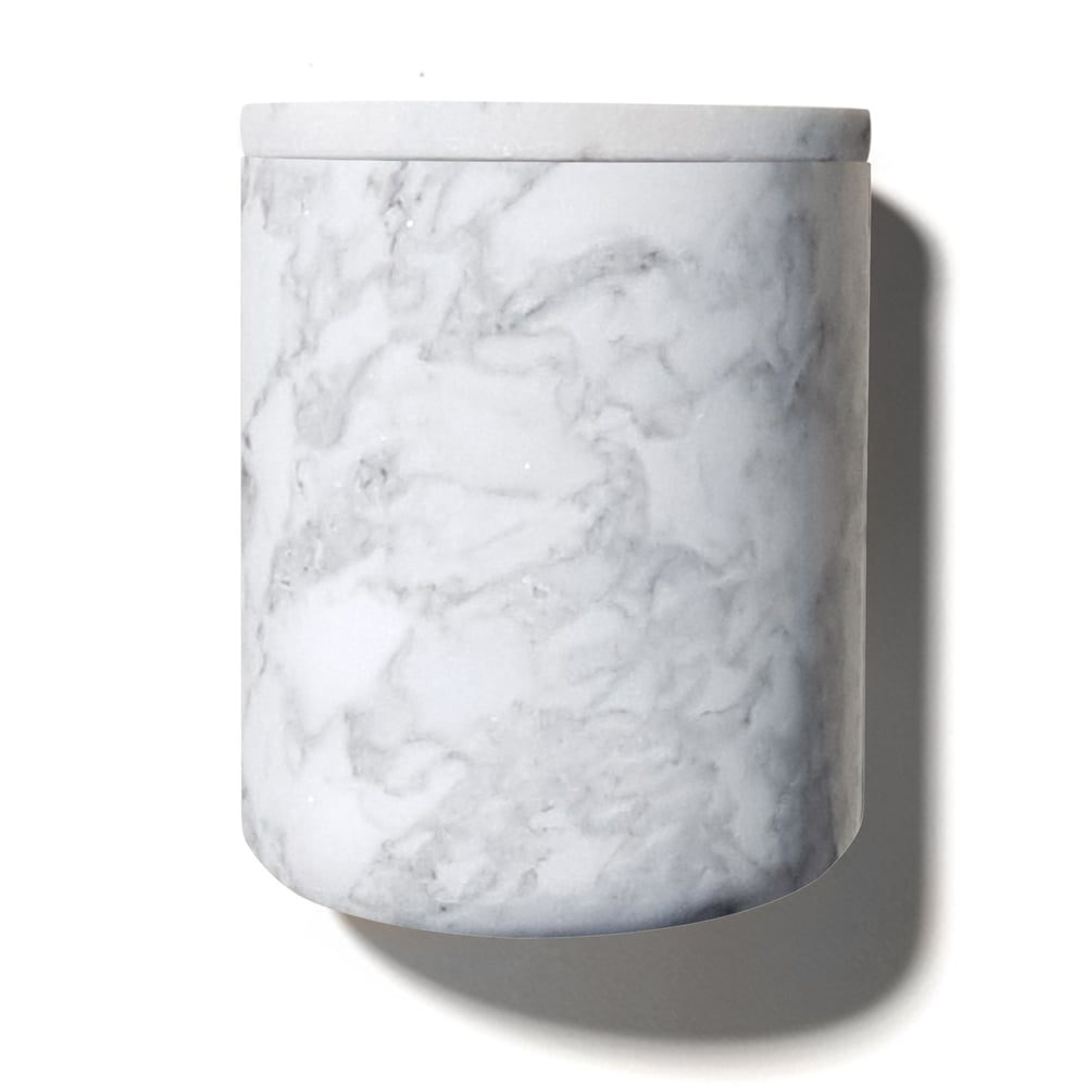 Carrara Marble Refillable Candle