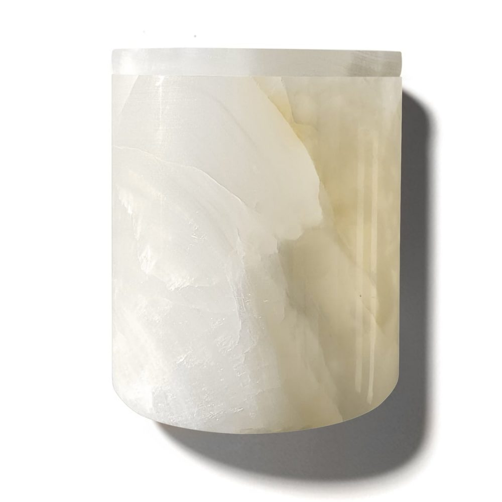 White Onyx Refillable Candle