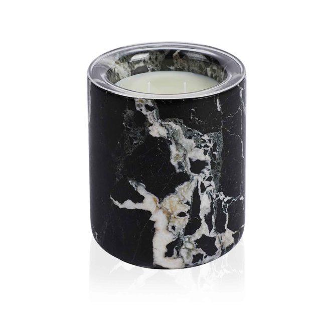 Black Marble Candle Holder