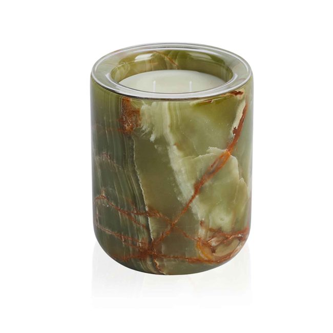 Green Onyx Candle Holder
