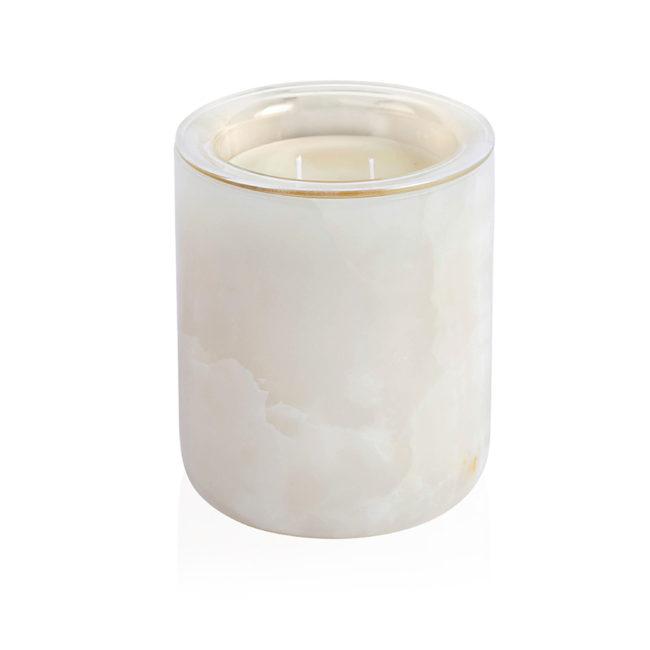 White Onyx Candle Holder